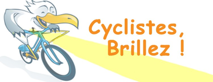 « Cyclistes, brillez ! » action nationale avec la FUB