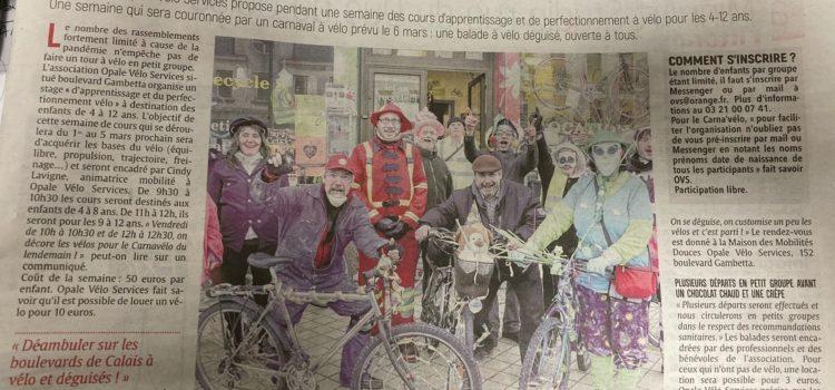 Article du Nord-Littoral Stage Vélo-Ecole